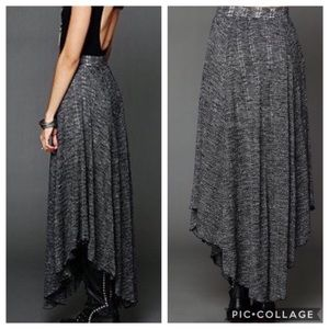 Free People Beach Maxi Skirt Starry Eye L Gray